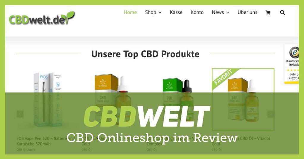 CBDwelt: Grosser Marken Onlineshop für CBD Produkte