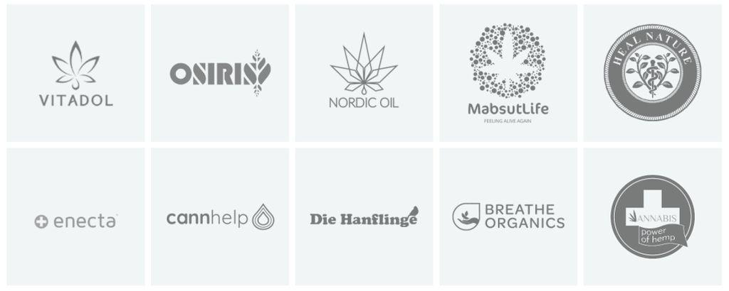CBD-Hersteller Marken Logos die bei HEMPERIA zu kaufen sind