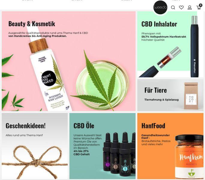 weedo shop übersicht produktkategorien
