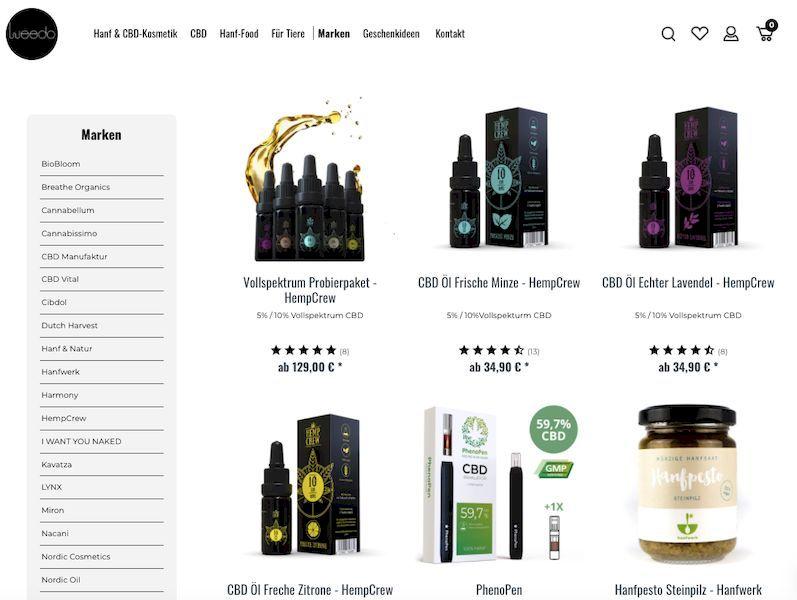 CBD-Produkte Bild von Weedo-Shop