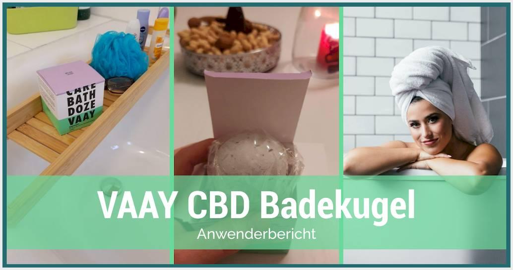 Die VAAY Badekugel mit CBD und Lavendel ausprobiert | Erfahrung mit der Badbombe pur!